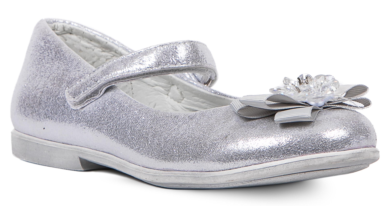 Купить Туфли для девочки Barkito серебряные, Китай, Женский