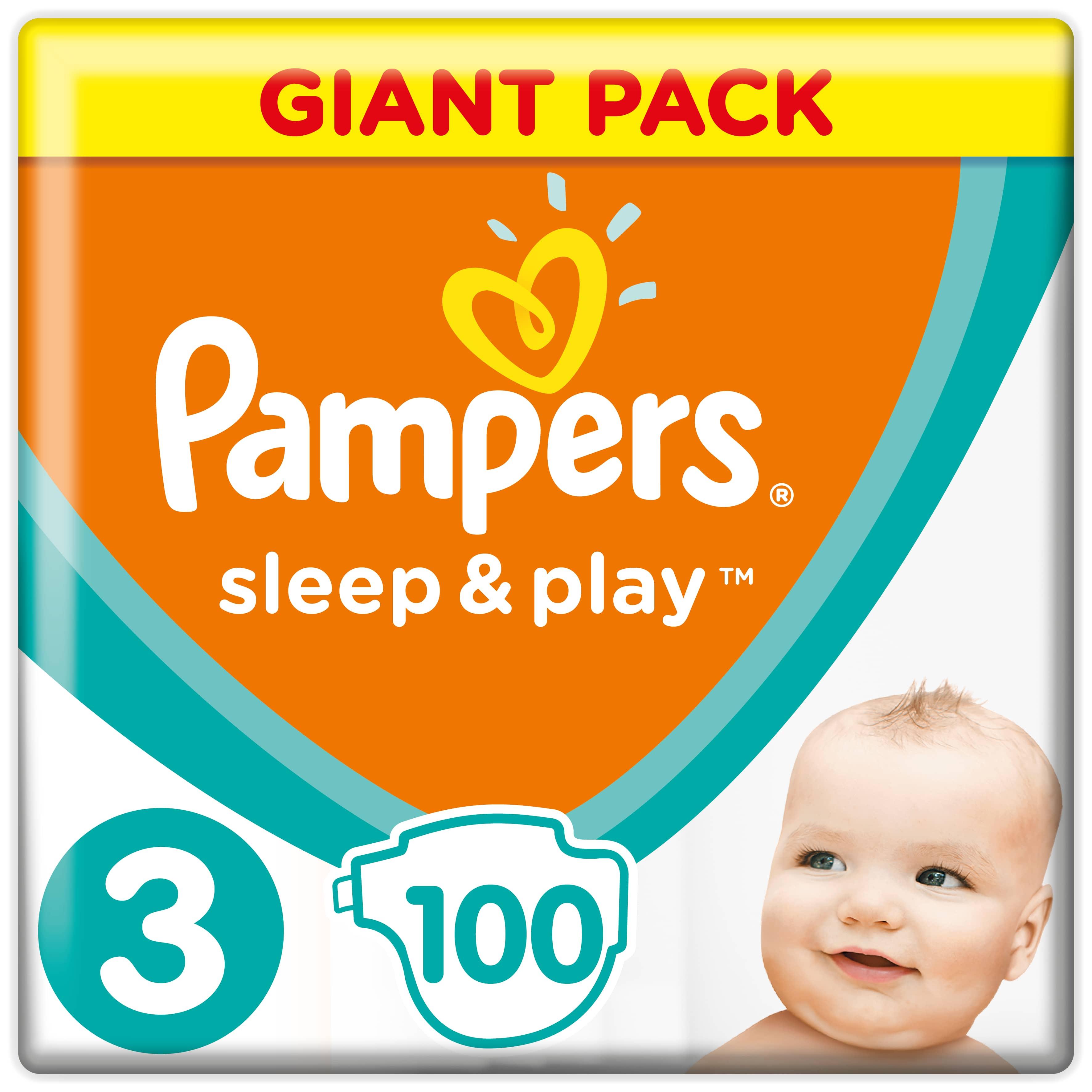 Подгузники Pampers Pampers Sleep & Play 3 (6-10 кг) 100 шт подгузники детские pampers подгузники pampers active baby dry 8 14 кг 4 размер 106 шт