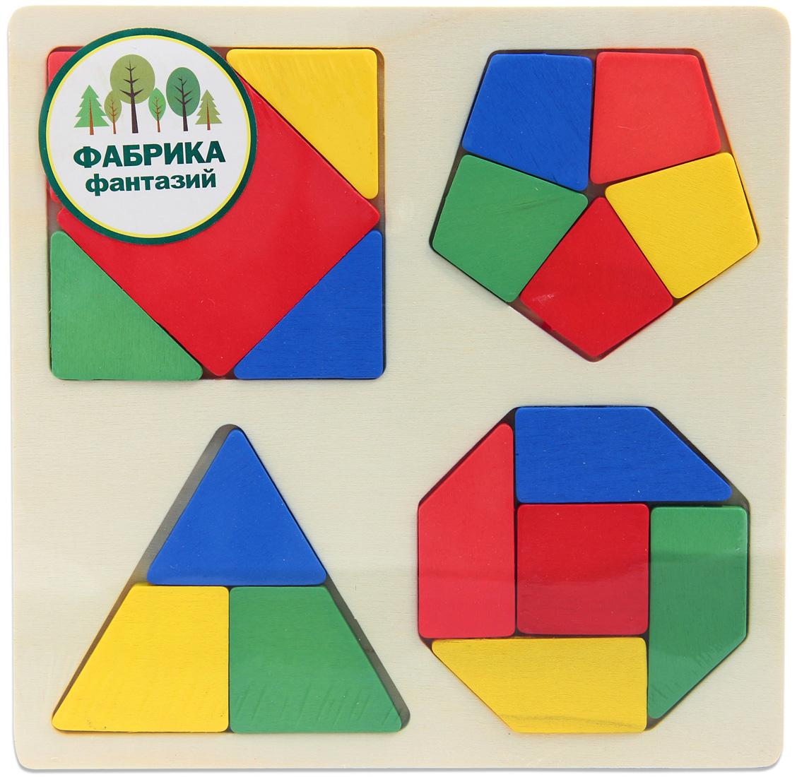 Деревянная игрушка Фабрика Фантазий Фигуры на квадратной основе