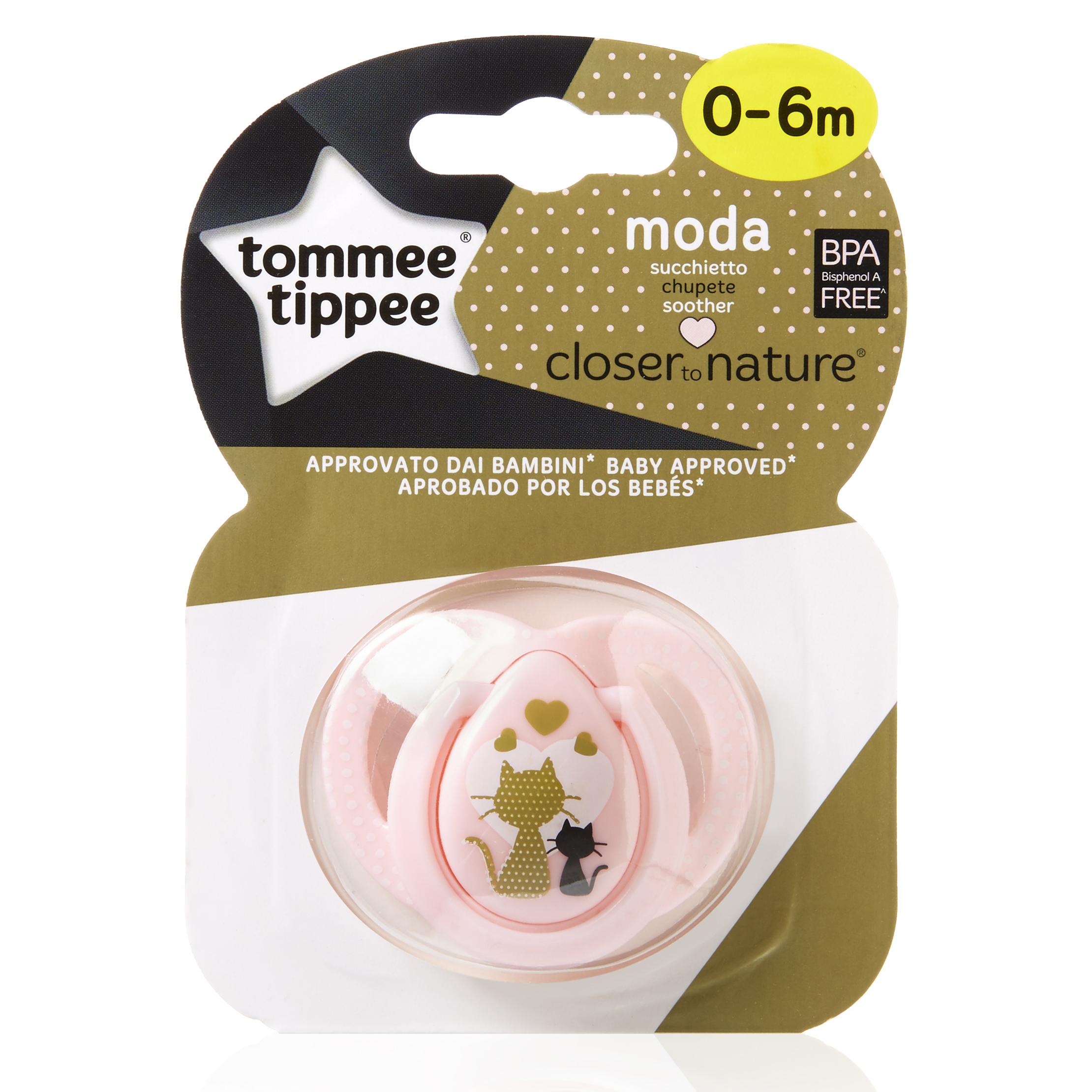 Пустышки Tommee Tippee Moda с рождения розовая пустышка силиконовая tommee tippee moda 6 18 мес с кошечкой розовая 43338855