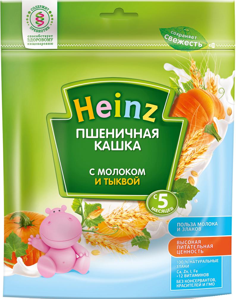 Купить Каша, Heinz Молочная пшеничная с тыквой (с 5 месяцев) 250 г, 1шт., Heinz 1212985, Россия