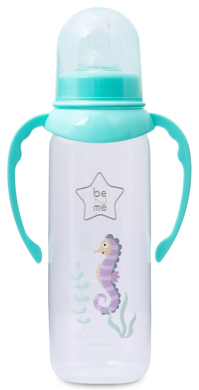Бутылочка Be2Me С силиконовой соской с ручками с 6 месяцев 250 мл зеленая иамо бутылочка сине зеленая