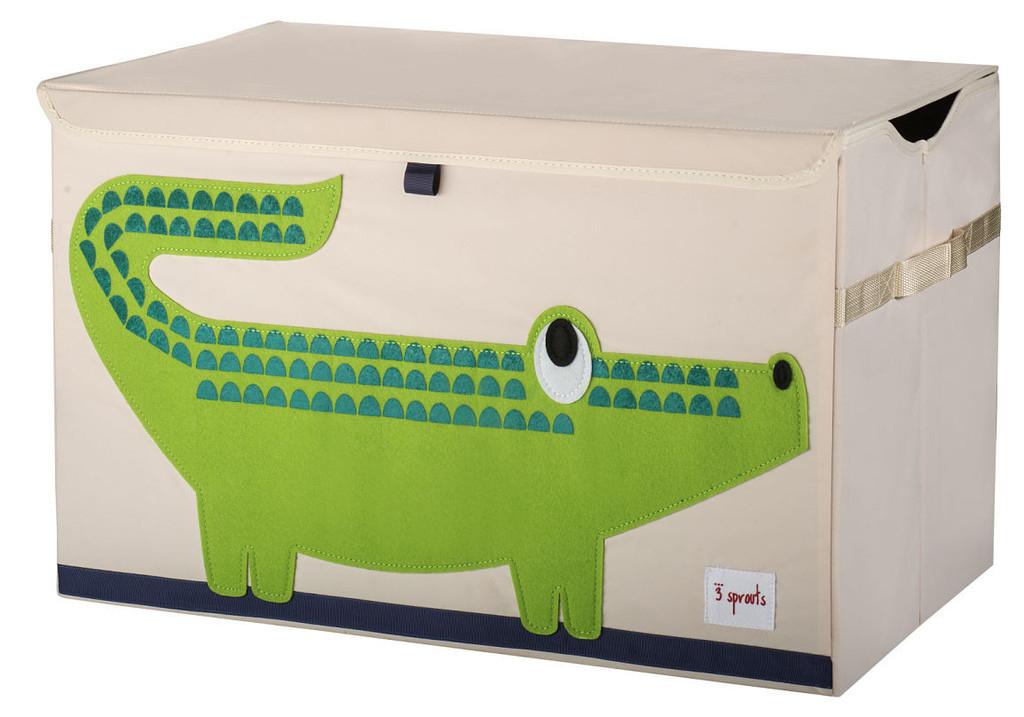 Ящики и корзины для игрушек 3 Sprouts Green Crocodile сундук большой 2557l