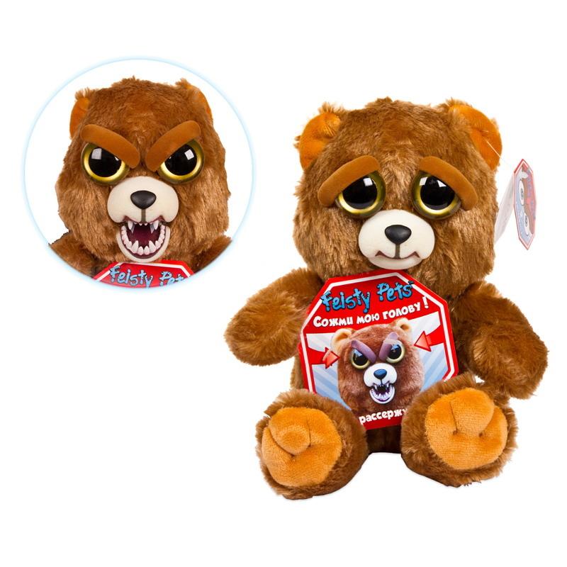 Мягкая игрушка Feisty Pets Медведь бурый feisty pets мягкая игрушка feisty pets белый медведь 21 6 см