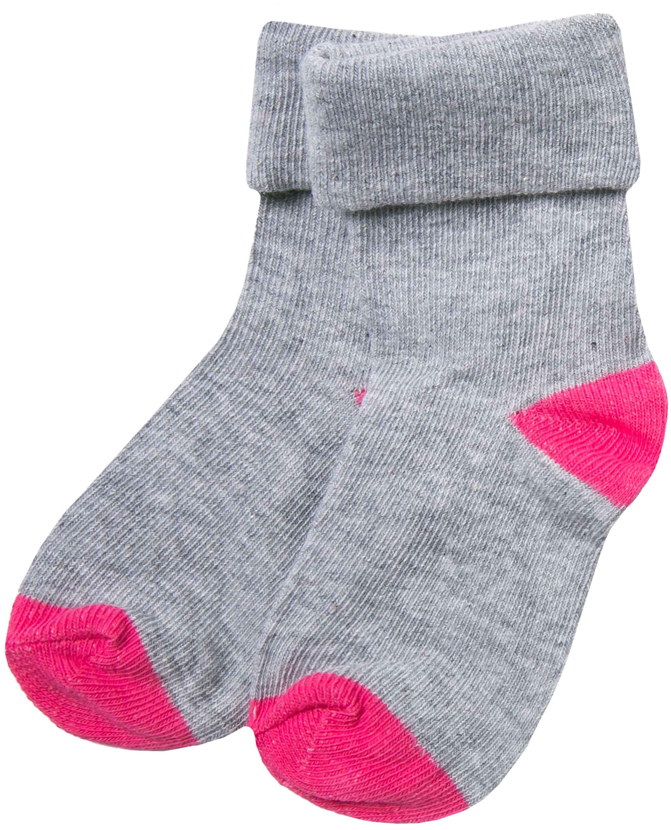 Купить Носки для девочки Barkito, серые с розовой отделкой, Китай, серый с розовой отделкой, Женский