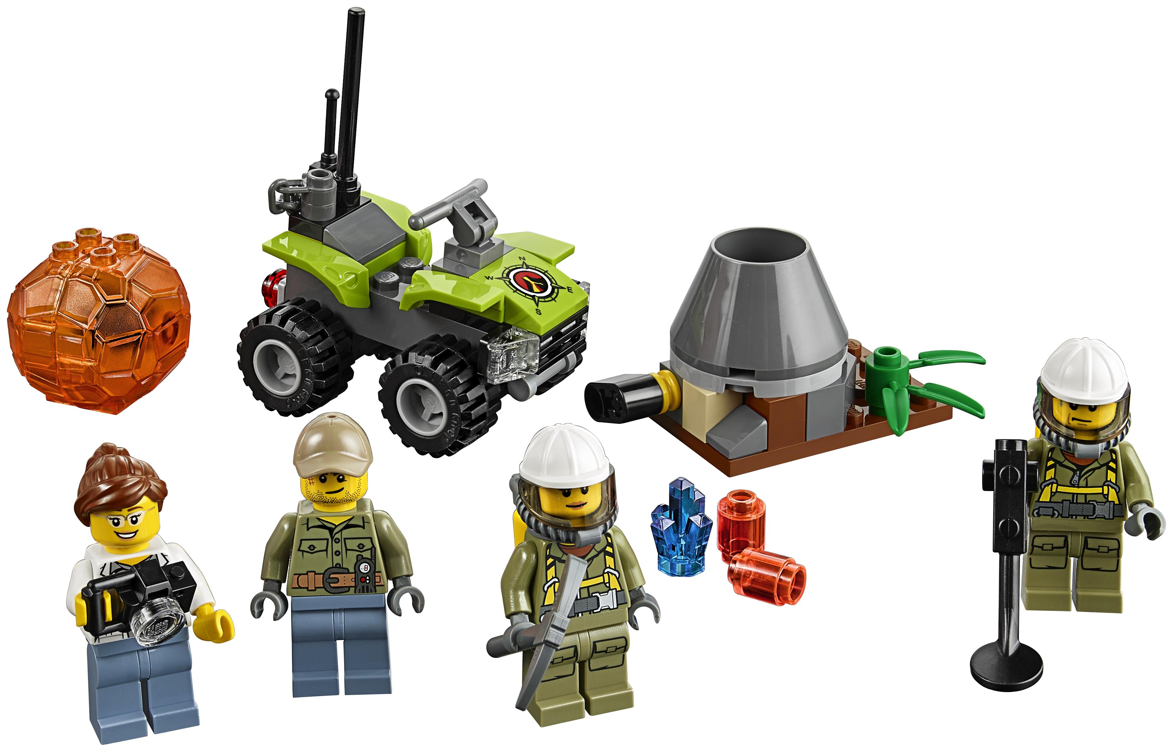 Конструктор LEGO LEGO City Исследователи Вулканов конструктор lego вездеход исследователей вулканов 60122