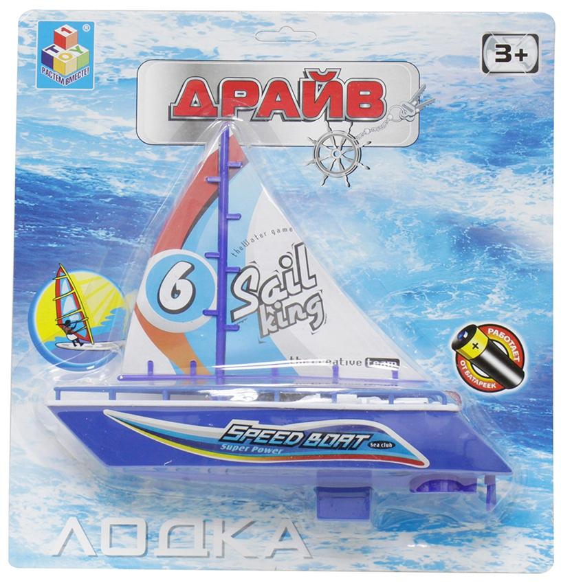 Катера и лодки 1toy Лодка Драйв 28 см набор 1toy драйв цвет в ассортименте т10343