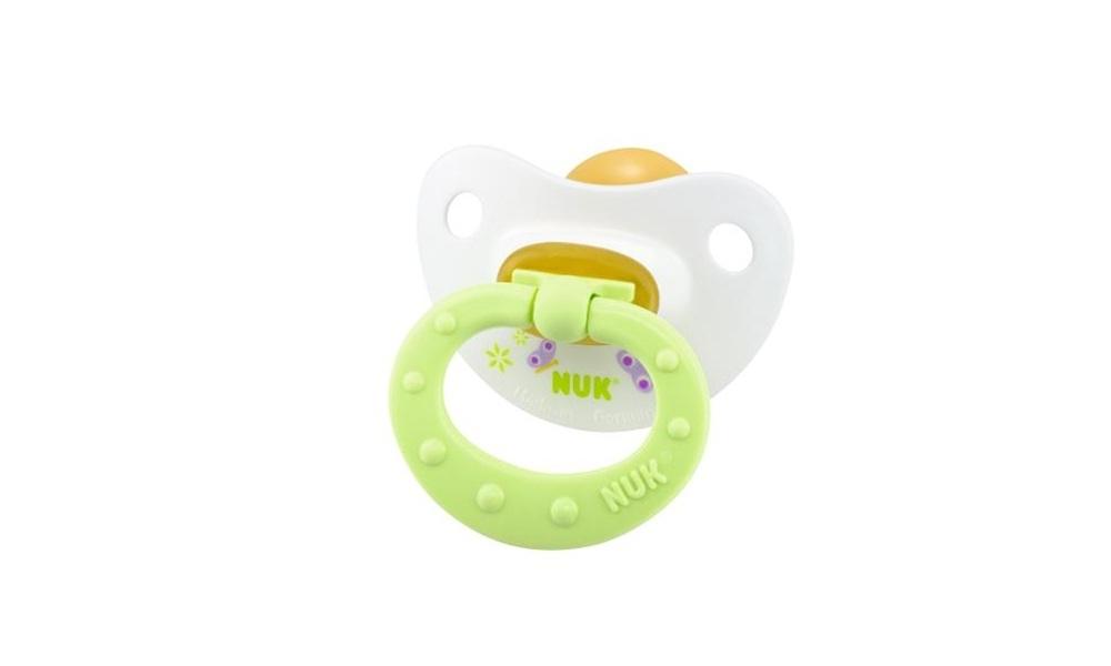 Купить Пустышки, Латексная успокаивающая HAPPY KIDS с 6 месяцев размер 2, NUK, Германия, светло-зеленый