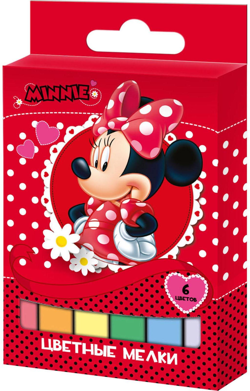Мелки Disney Набор цветных мелков Disney «Минни» 6 цв. меловая доска набор цветных мелков melompo mel 8