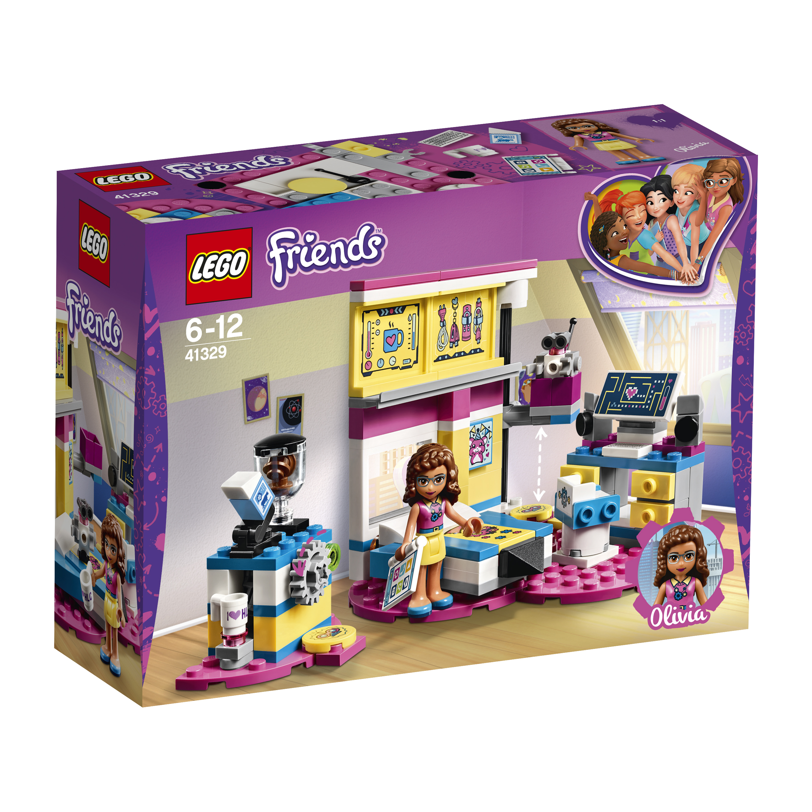 Конструктор LEGO Friends 41329 Комната Оливии конструктор bela friends 10168 оливия и домик на колёсах