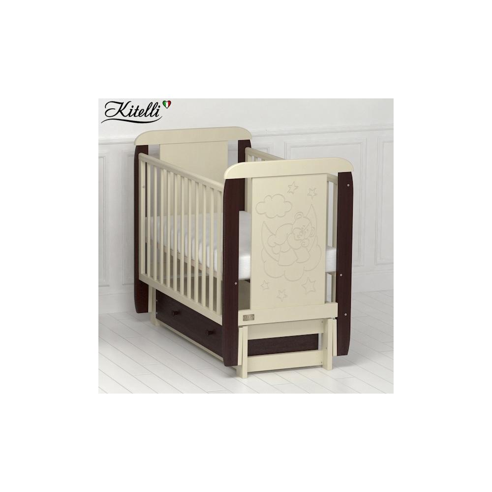 Кроватки детские Kitelli Orsetto (продольный маятник с ящиком)