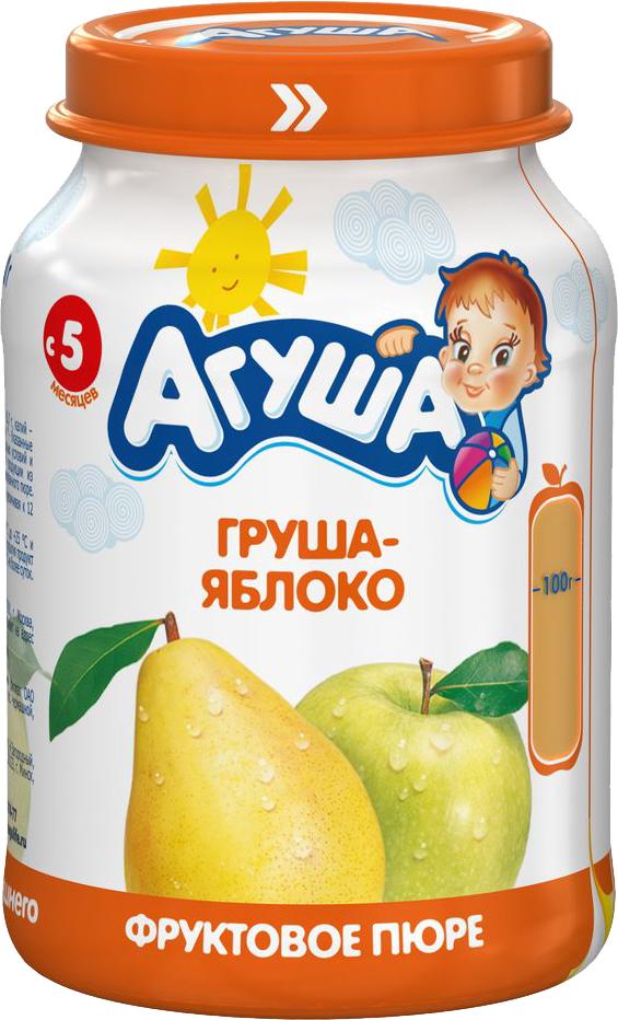Пюре Вимм-Билль-Данн Агуша Груша-яблоко (с 5 месяцев) 200 г молочная продукция агуша молоко стерилизованное с пребиотиком 2 5% 200 мл