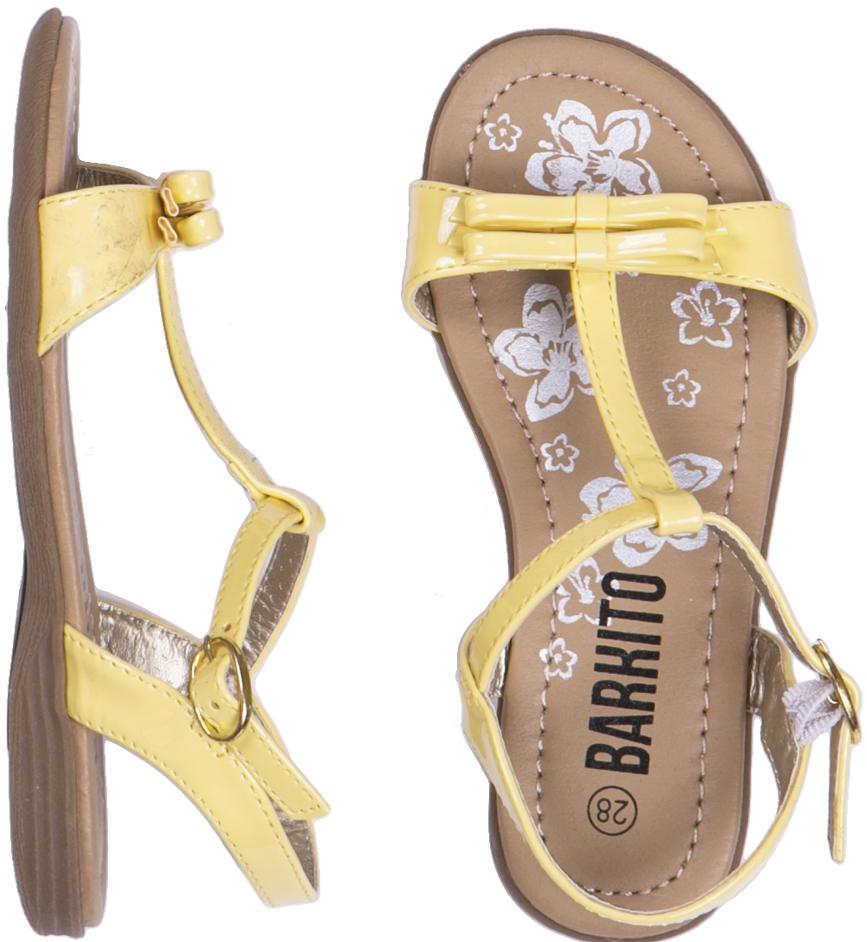 Босоножки Barkito Туфли летние для девочки Barkito лимонный цены онлайн