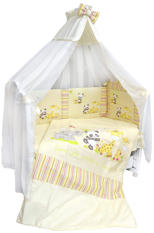 Комплект в кроватку L'Abeille Комплект в кроватку «Панда с друзьями» 6 пр.