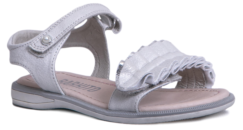 Купить Босоножки, Туфли летние для девочки Barkito, серебряные, Китай, серебряный, Женский