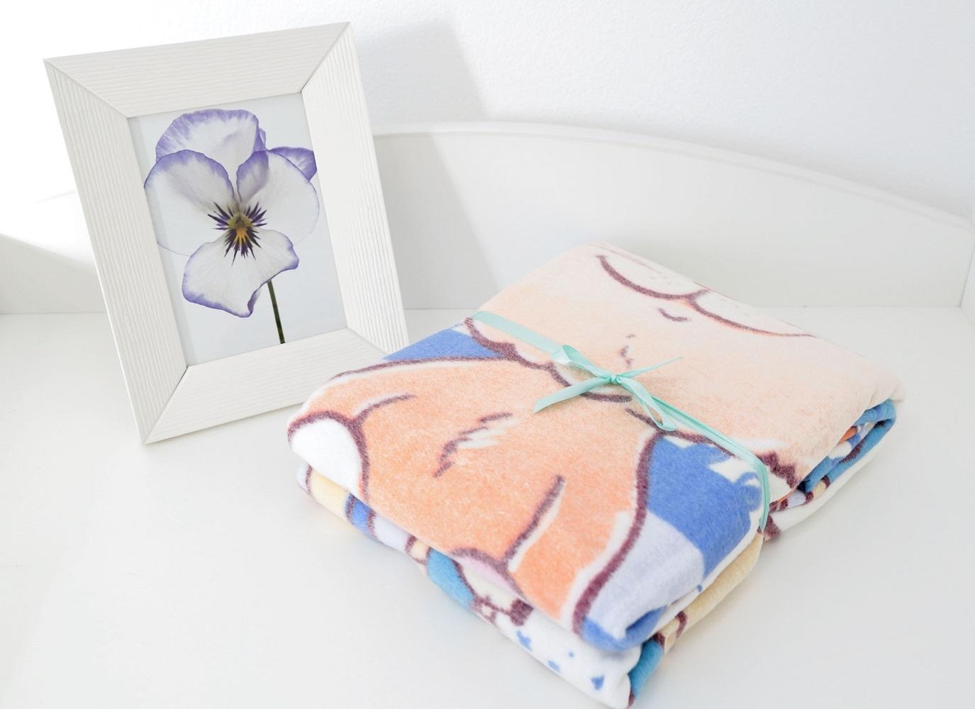 Постельные принадлежности Baby Nice Одеяло Baby Nice «Кот на кухне» байковое 100х140 см голубое