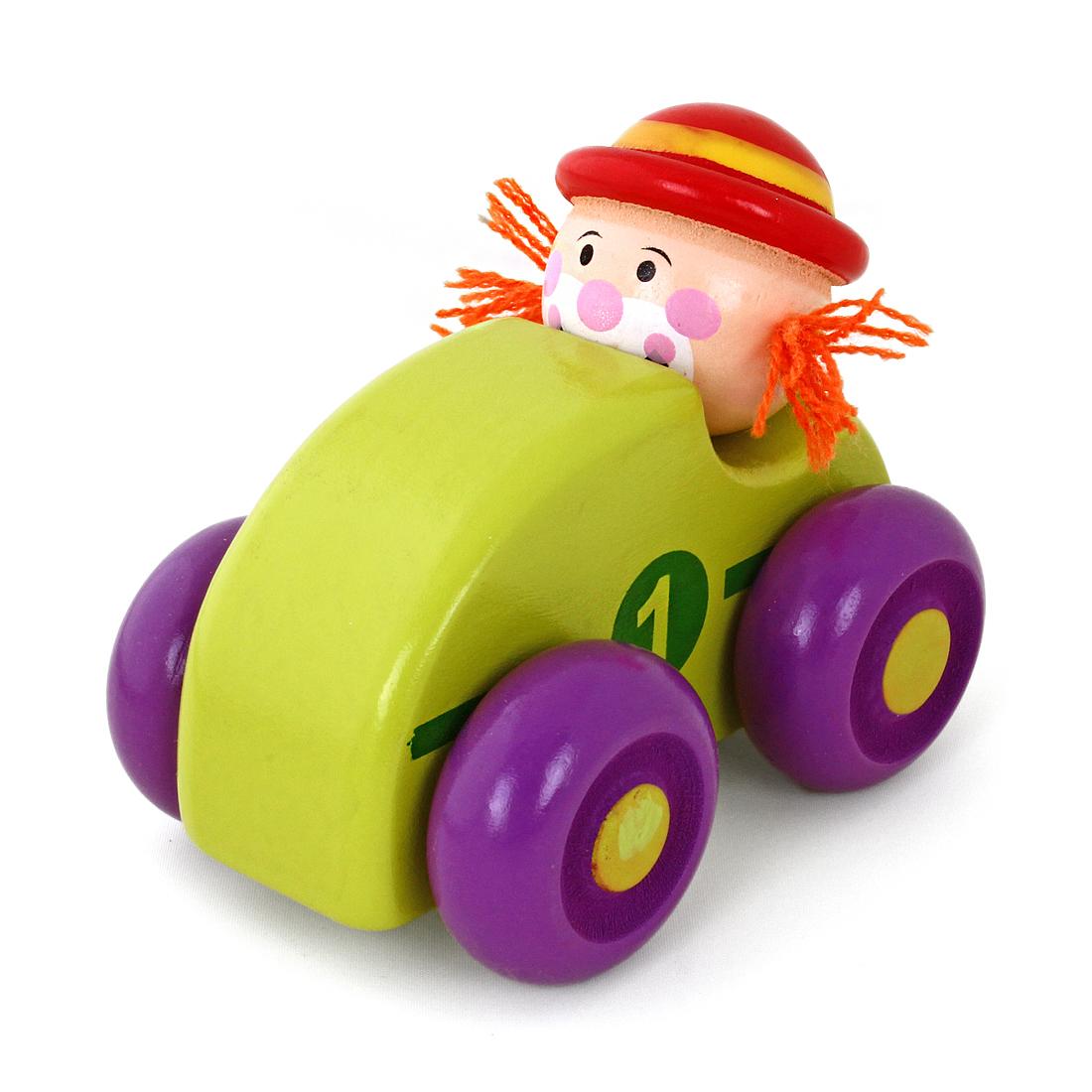 Деревянная машинка Наша игрушка Клоун