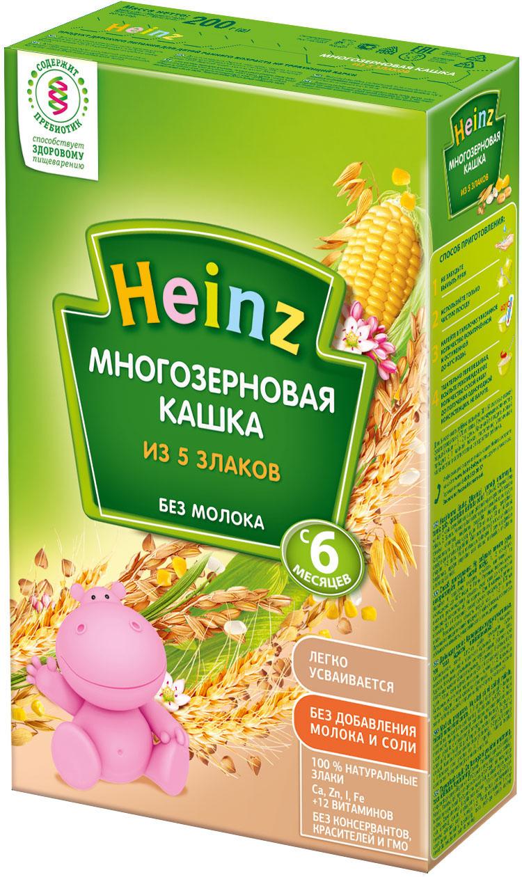 Каша Heinz Heinz Безмолочная 5 злаков (c 6 месяцев) 200 г heinz каша многозерновая из пяти злаков с 6 месяцев 200 г