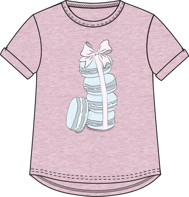 Футболки и топы Barkito Футболка с коротким рукавом для девочки Barkito Сладкоежка-2, розовая футболки и топы barkito сладкоежка 2