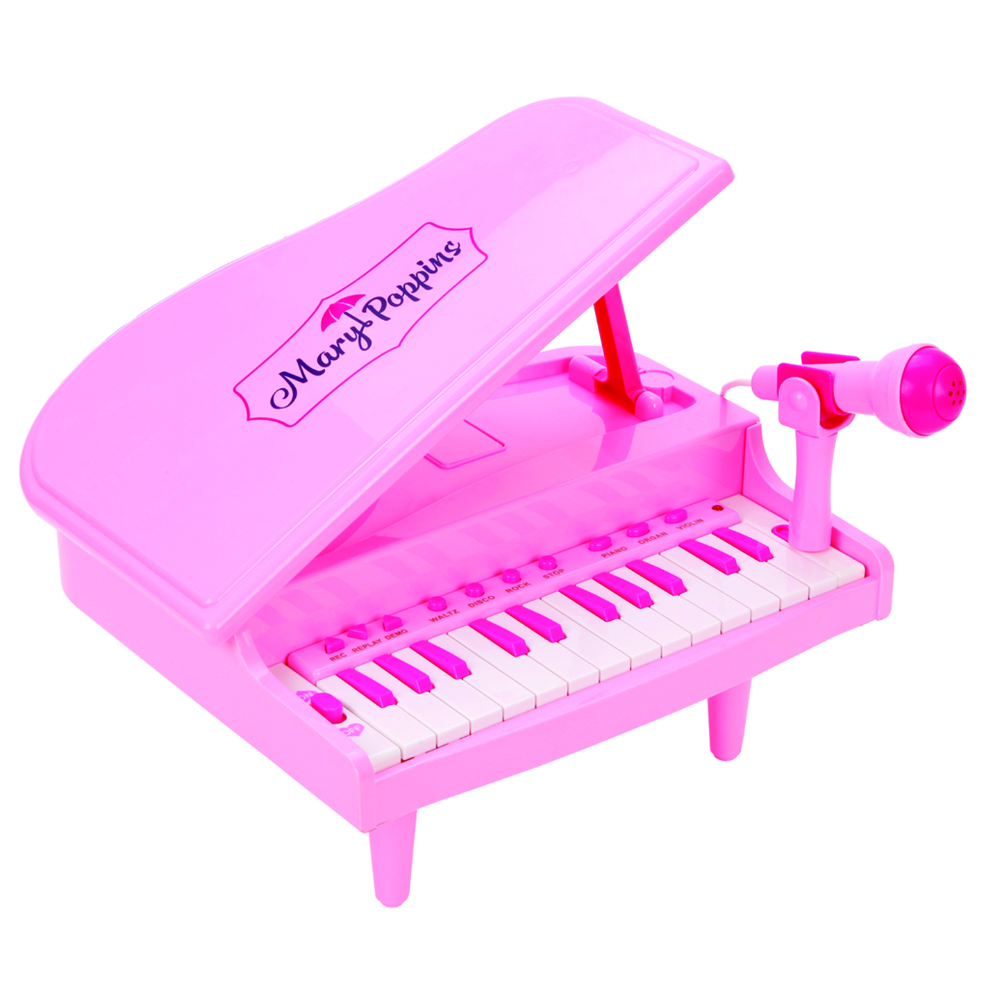 Синтезатор Mary Poppins Волшебный рояль с микрофоном детский музыкальный инструмент сима ленд синтезатор с микрофоном музыкант green 1689051