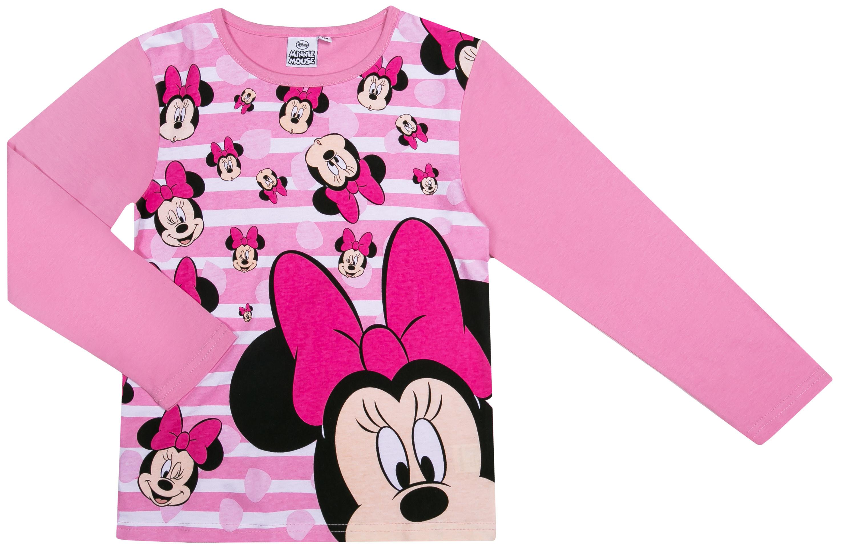 Пижамы Disney minnie Пижама для девочки Minnie Mouse, розовая пижама