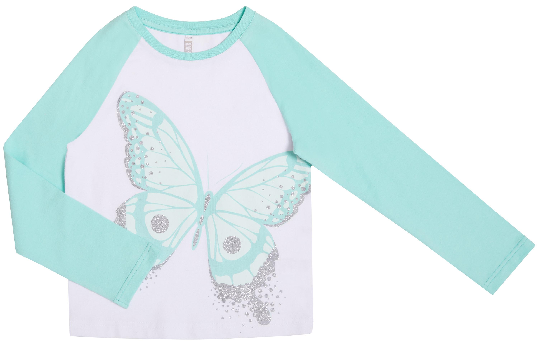 Футболка с длинным рукавом Barkito «Весенние бабочки», ментоловая толстовки barkito весенние бабочки