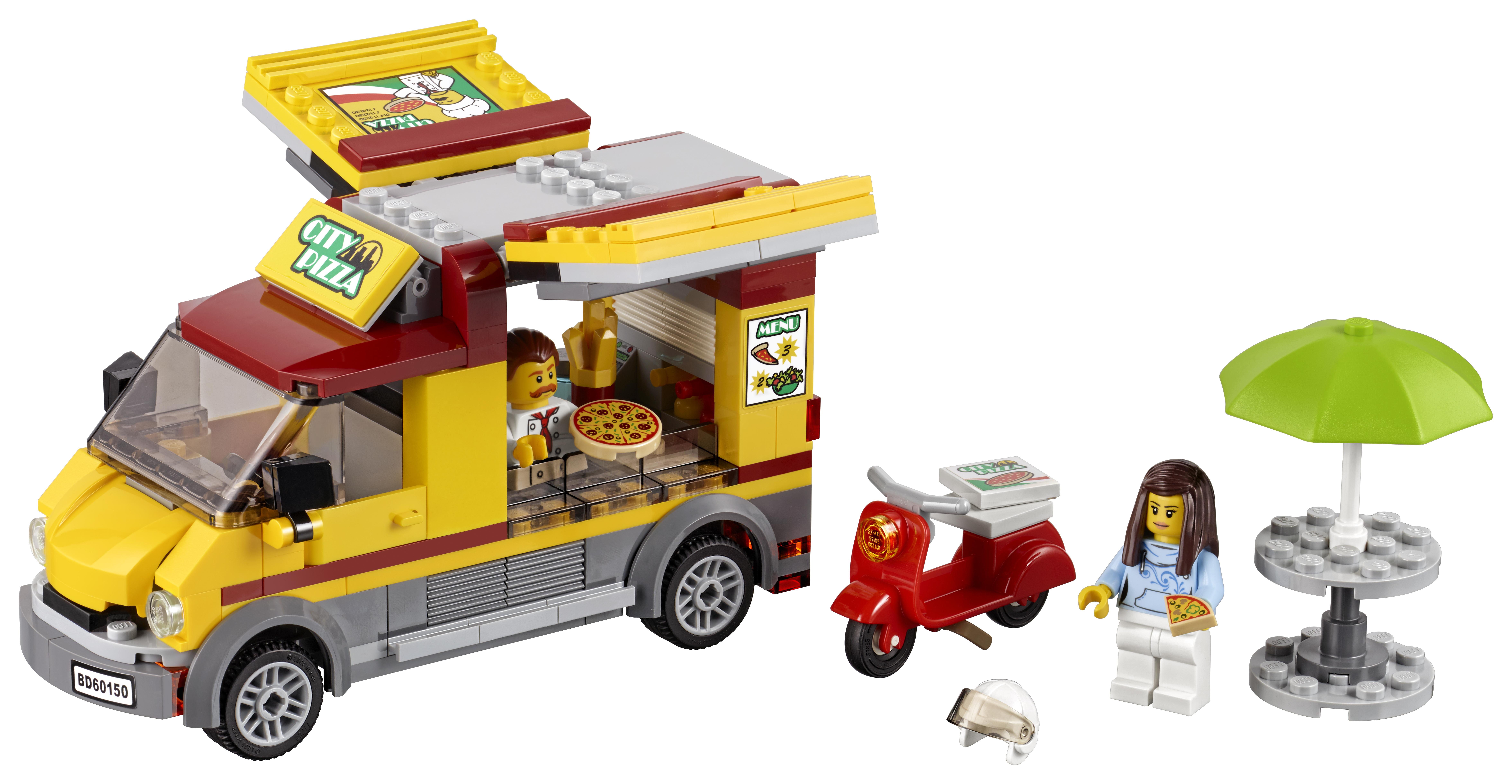 Конструктор LEGO City 60150 Фургон-пиццерия конструктор bela urban фургон пиццерия 261 дет 10648