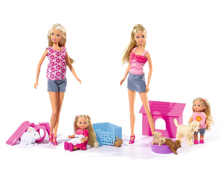 Игровой набор simba Штеффи и Еви simba игровой набор с куклами simba steffi love королевская семья штеффи кевин еви тимми