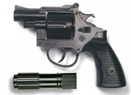 цена Игрушечное оружие и бластеры Edison Giocattoli Americana Polizei с глушителем