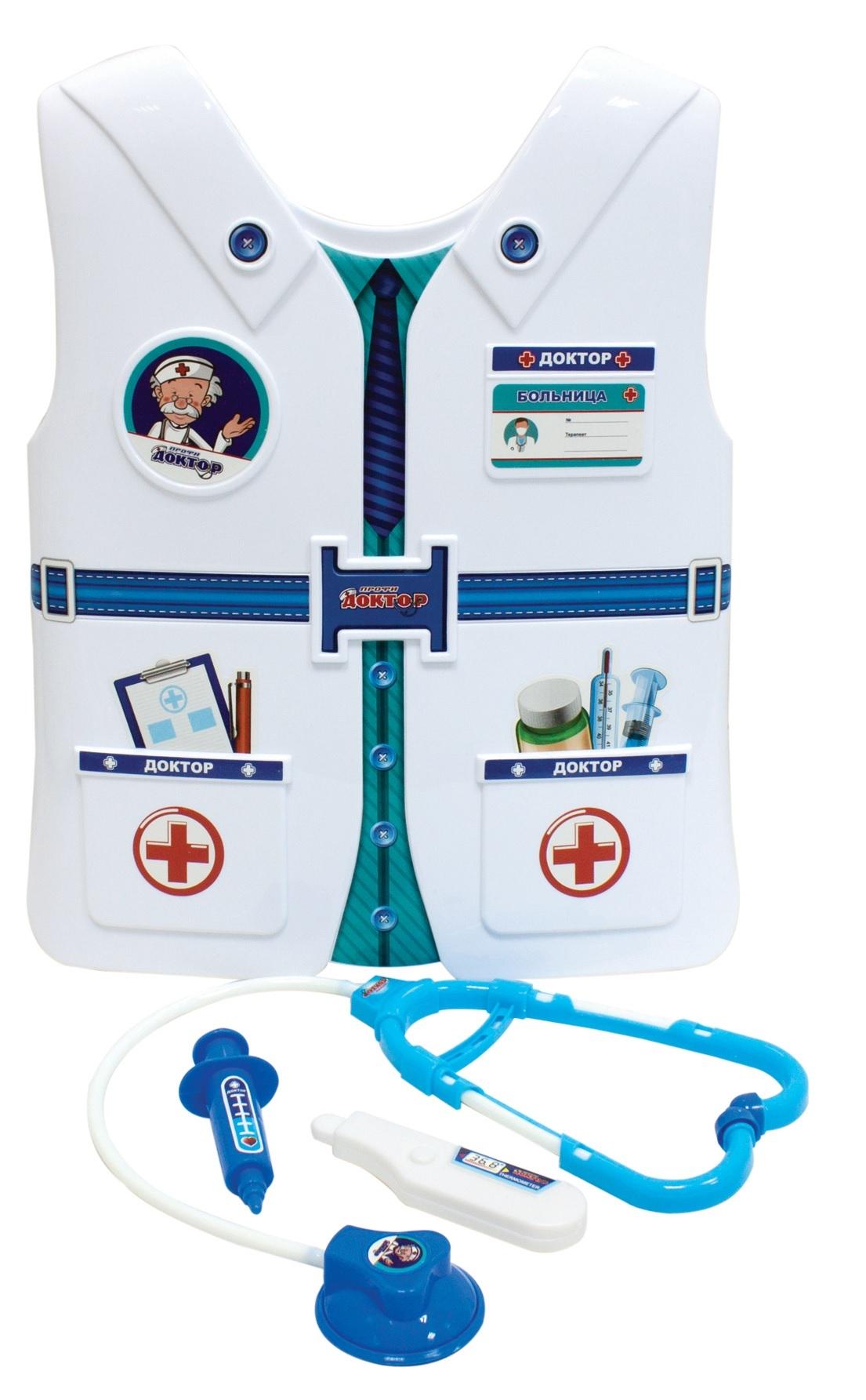 Игровой набор 1toy Доктор с жилетом 3 пр Т10484 1 toy детский игровой набор доктор арт т56708