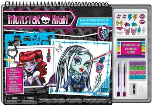 Наборы для творчества Monster High Набор для творчества с портфолио Fashion Angels Уроки макияжа в школе монстров наборы для создания украшений fashion angels набор для декорирования ободков с помощью мини скотчей школа монстров