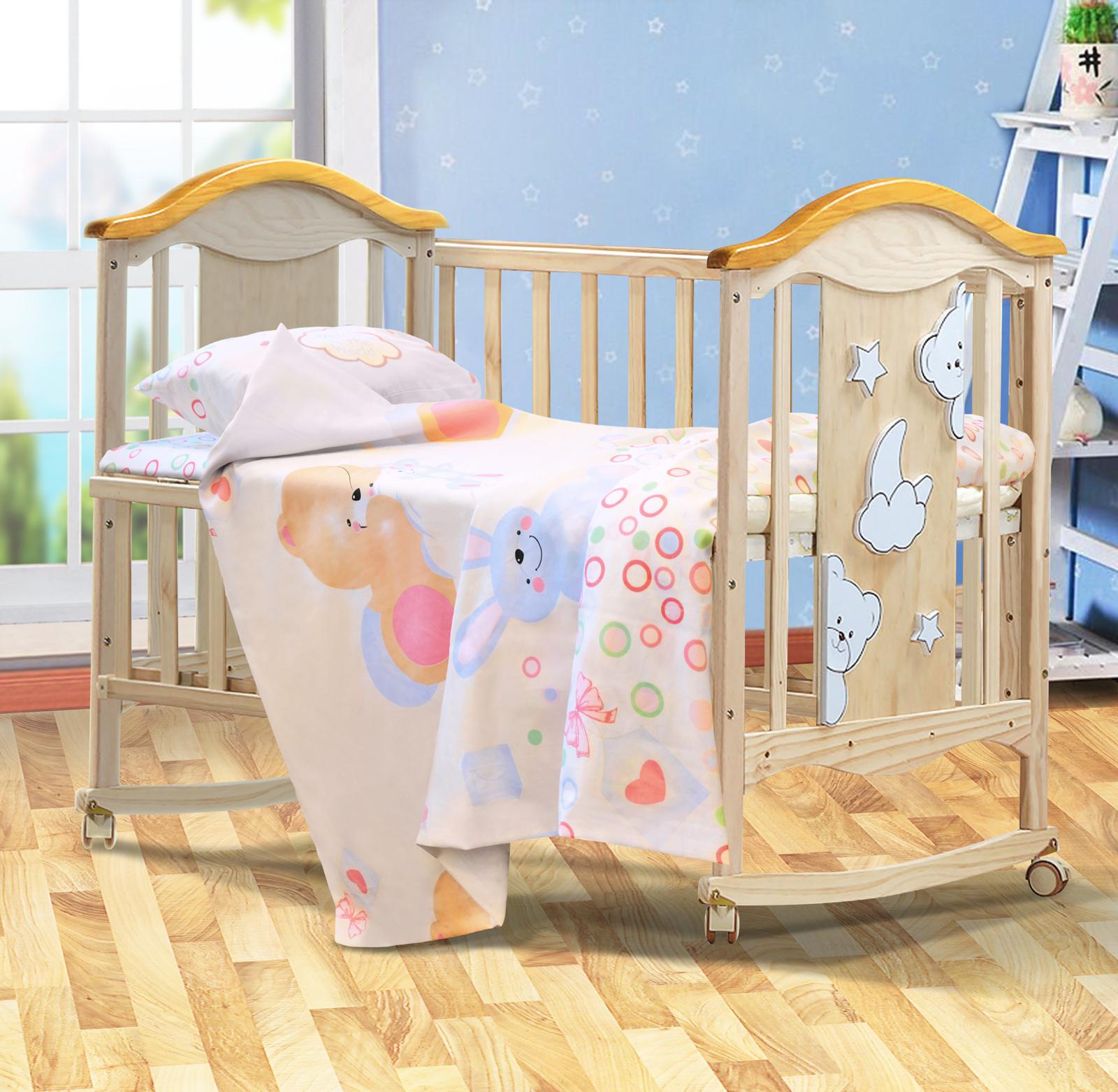 купить Комплект постельного белья Bonne Fee Зайки по цене 1199 рублей
