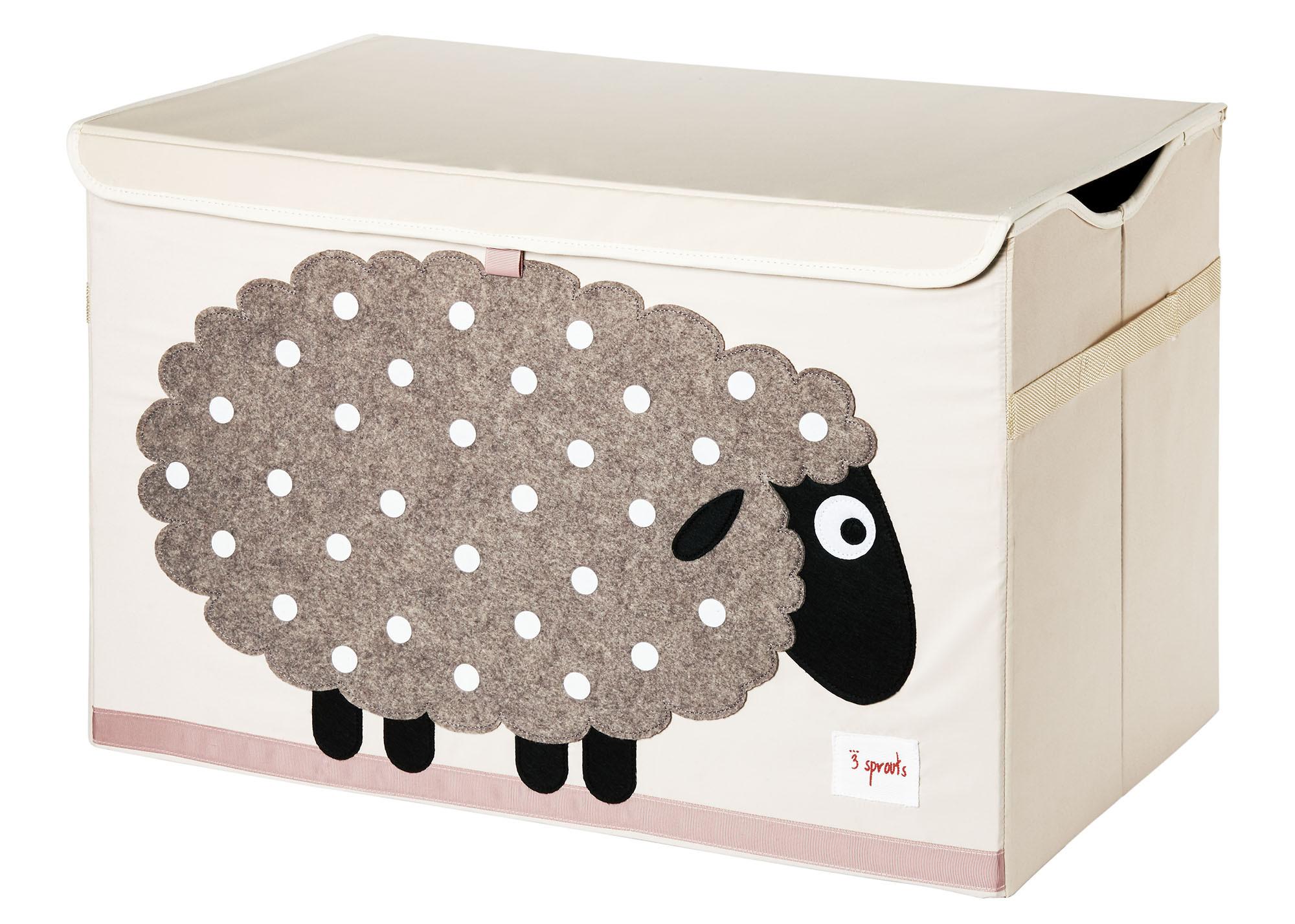 Ящики и корзины для игрушек 3 Sprouts Сундук для хранения игрушек 3 Sprouts «Beige Sheep» ящики и корзины для игрушек 3 sprouts корзина для хранения 3 sprouts grey raccoon
