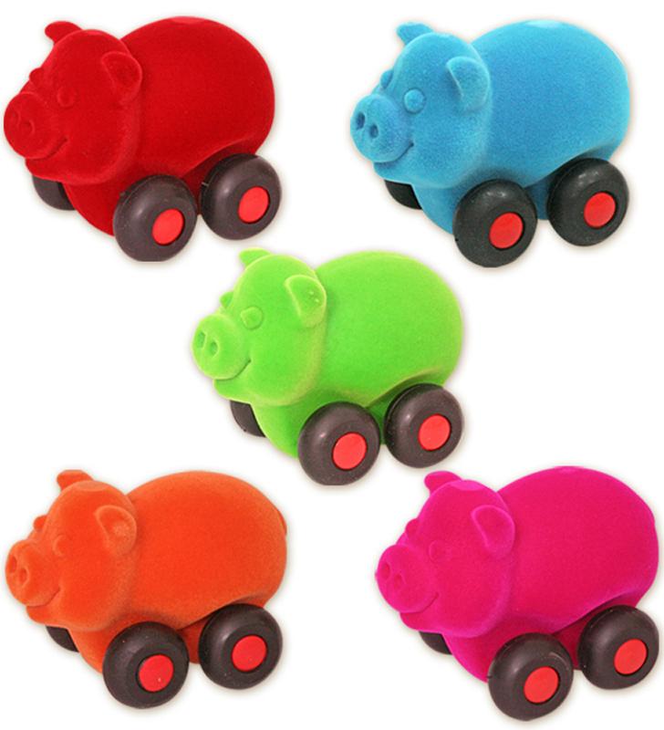 Развивающие игрушки Rubbabu Поросенок машины rubbabu скутер из натурального каучука с флоковым покрытием 21 см