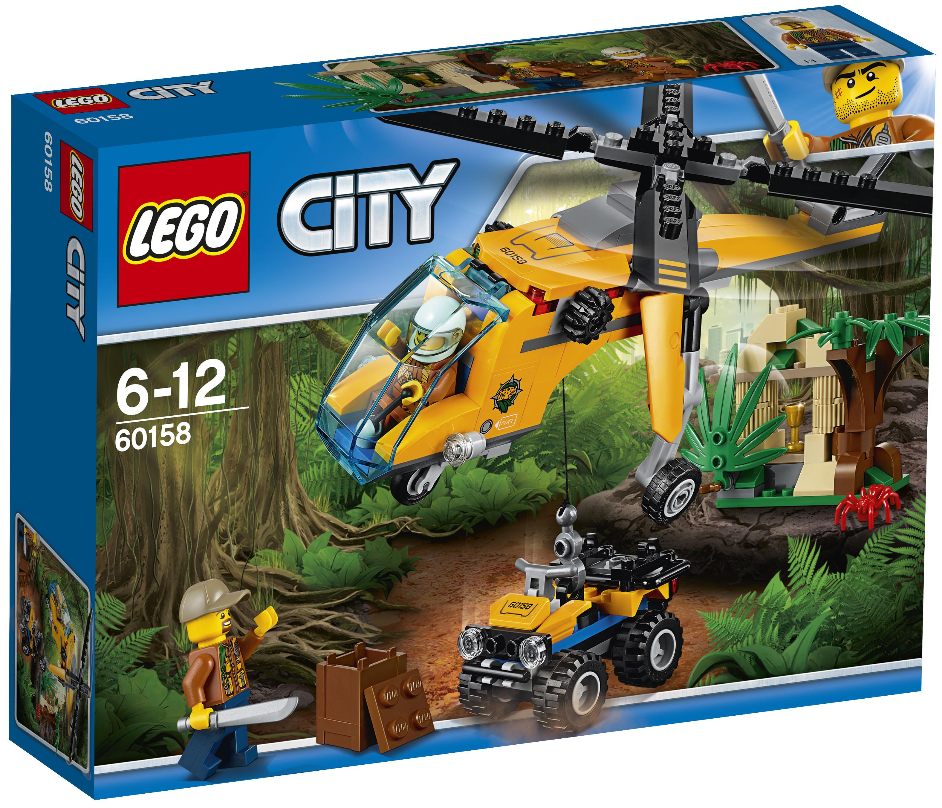 Конструктор LEGO LEGO City Jungle Explorer 60158 Грузовой вертолёт исследователей джунглей