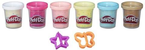 Пластилин Play-Doh 6 баночек с конфетти игровой набор play doh набор из 6 баночек с конфетти hasbro play doh