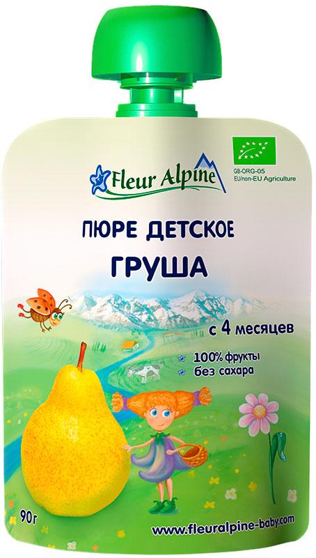 Пюре Fleur Alpine Fleur Alpine Груша (с 4 месяцев) 90 г пюре fleur alpine organic чернослив 90г