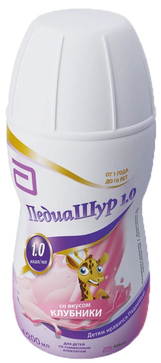 Напитки PediaSure Малоежка PediaSure (ПедиаШур) для оптимизации питания детей с 1 года со вкусом клубники, 200 мл french in one click book with cd
