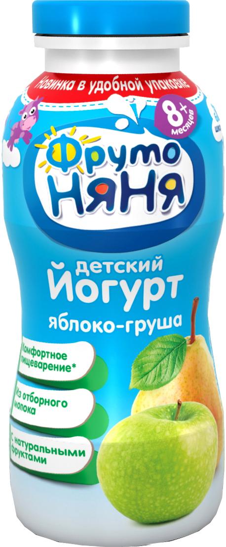 Молочная продукция Фрутоняня ФрутоНяня питьевой Яблоко и груша 2,5% с 8 мес. 200 мл активиа биойогурт питьевой чернослив 2% 870 г