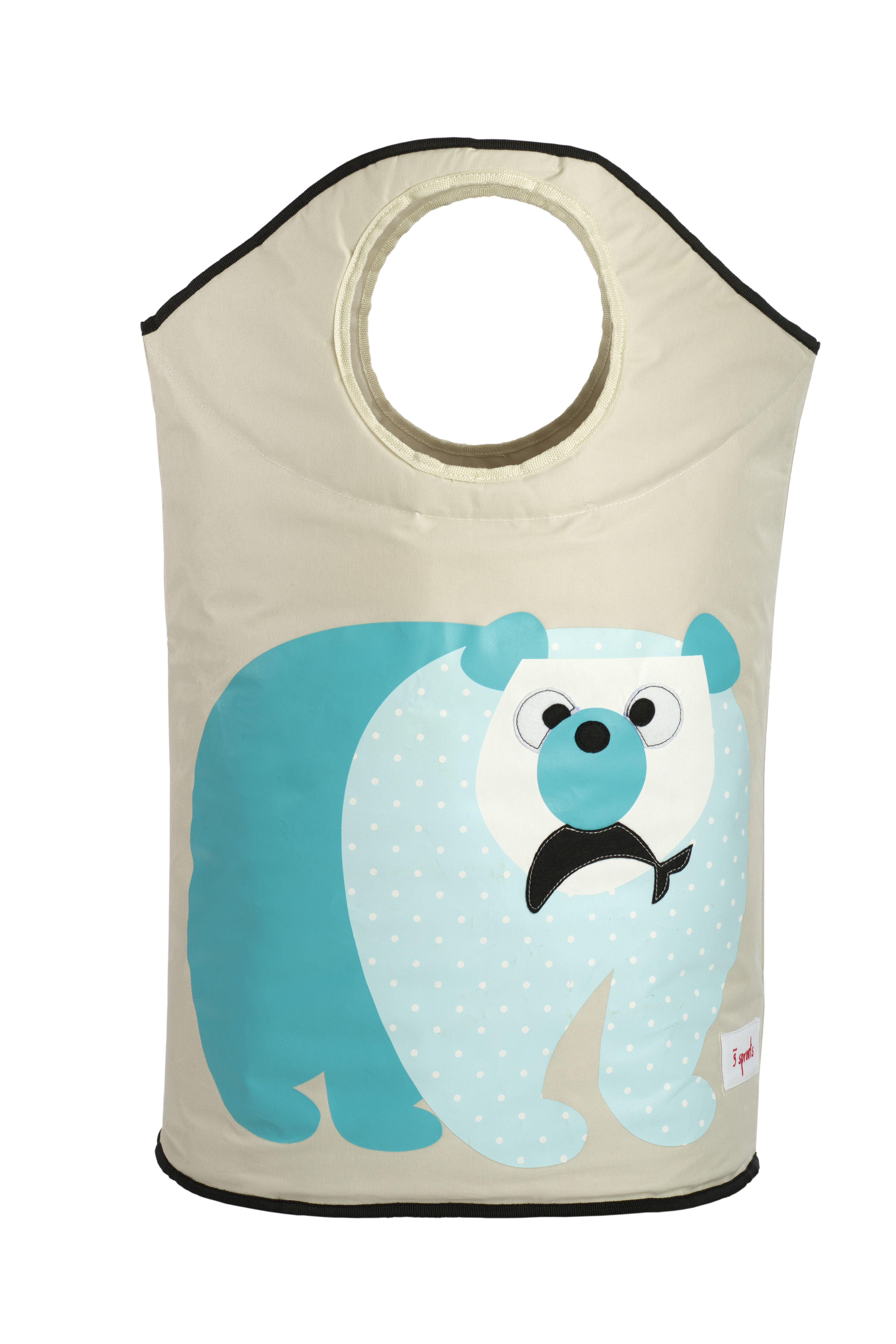 Корзина для белья 3 Sprouts Blue Polar Bear 3 sprouts корзина для белья 3 sprouts осьминог