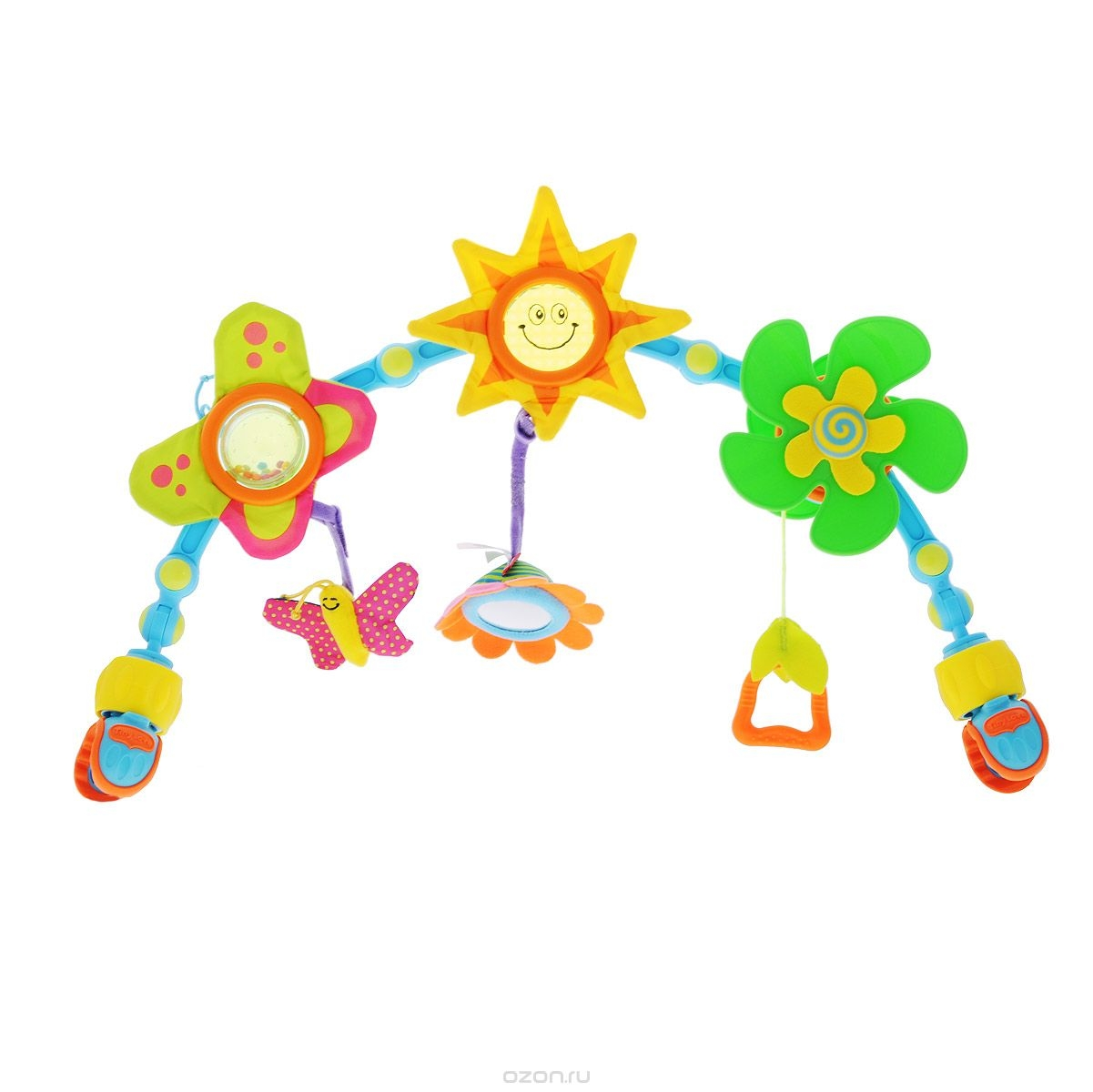 Путешествие с ребенком Tiny Love Дуга с подвесками Tiny Love «Солнечная» развивающая tiny love дуга с подвесками радуга tiny love
