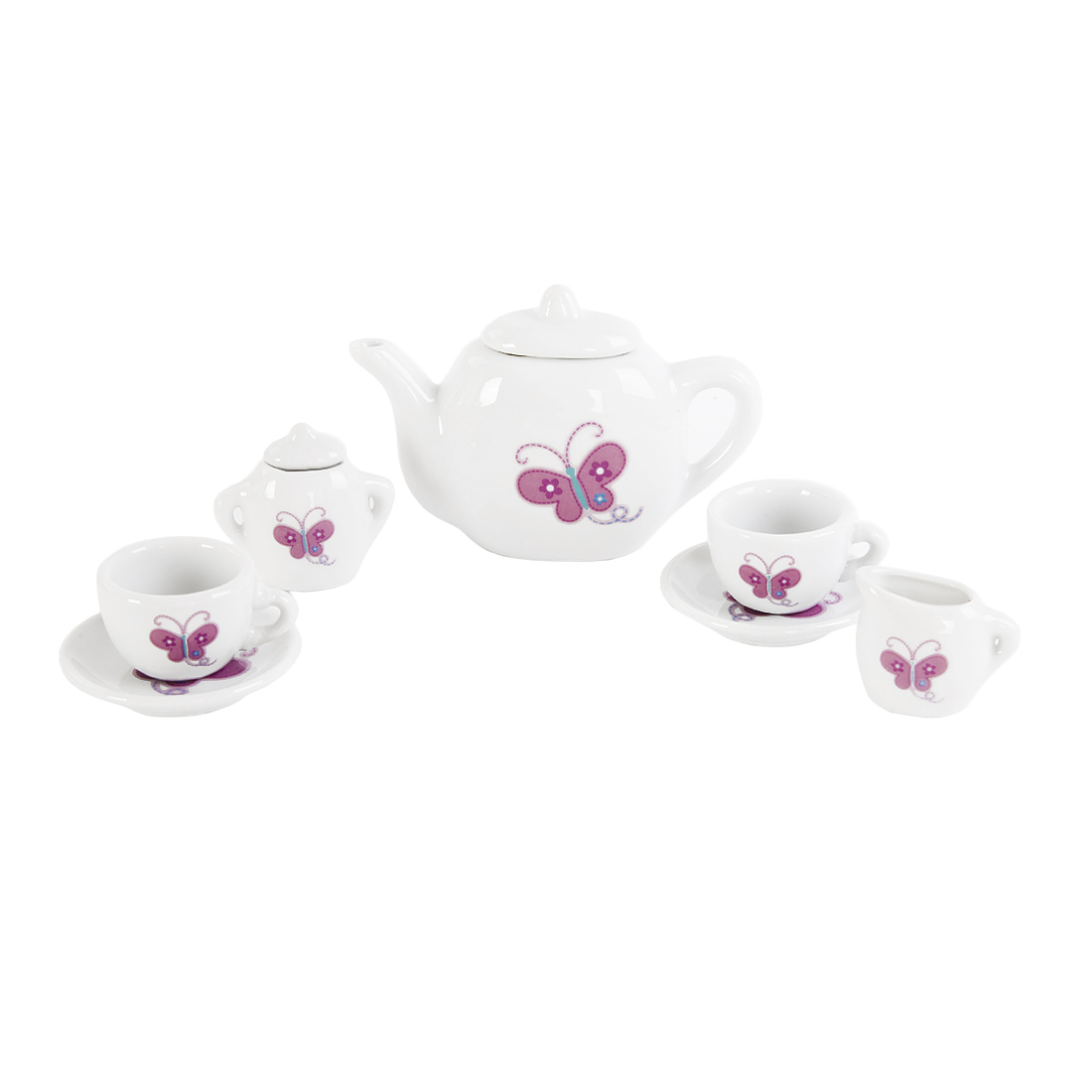Посуда и наборы продуктов Mary Poppins Набор посуды Mary Poppins «Пирожные» фарфоровый 9 пр. эклеры и другие домашние пирожные