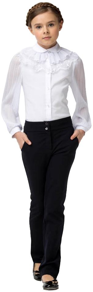 Форма для девочек Смена Блуза для девочки Смена, белая блуза apart блуза