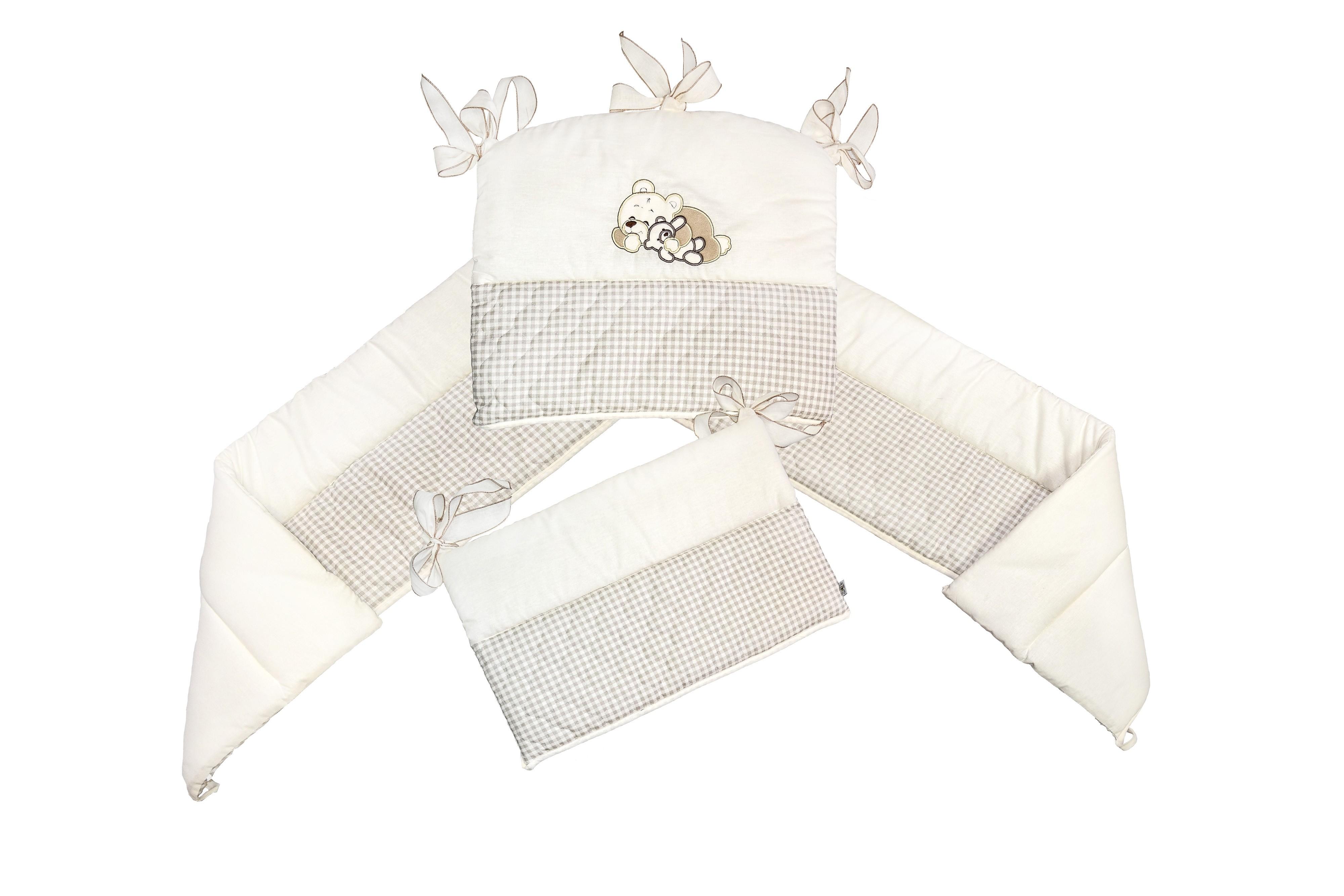 Защитный бампер в кроватку L'Abeille «Милый мишка» бампер в кроватку l abeille мишка с зайкой