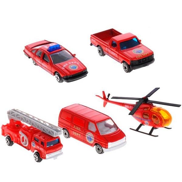 Welly Пожарная команда, 5 шт. welly welly набор служба спасения пожарная команда 4 штуки