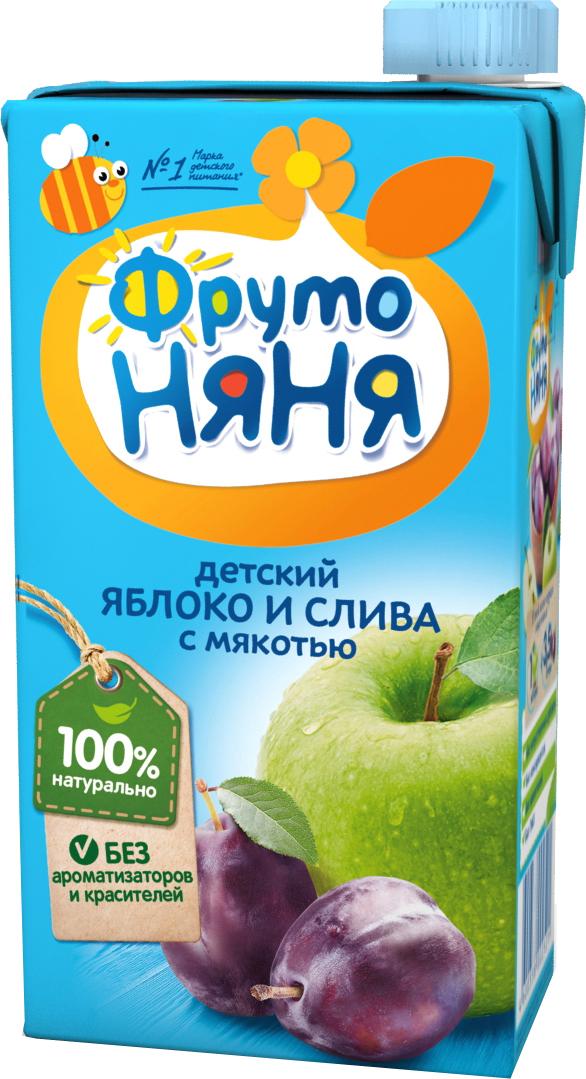 Нектар Прогресс ФрутоНяня Яблоко и слива с мякотью с 3 лет 500 мл сок фрутоняня яблоко и абрикос с мякотью с 3 лет 500 мл
