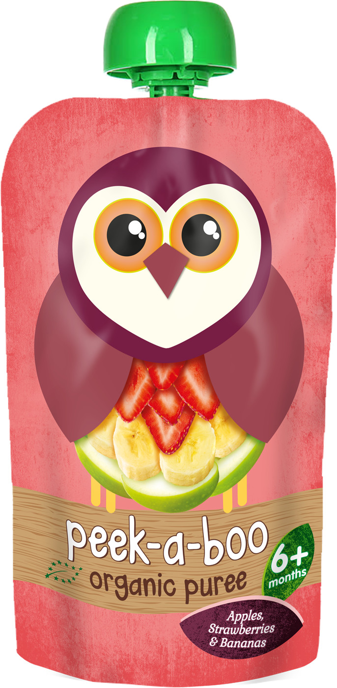 Пюре Peek-a-boo Peek-a-boo Яблоко банан клубника (с 6 месяцев) 113 г фруктовое peek a boo peek a boo яблоко с 4 месяцев 113 г