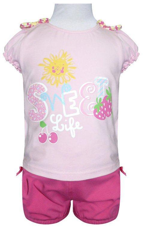 Фото Комплекты Allini kids Комплект для девочки: футболка + шорты Allini kids