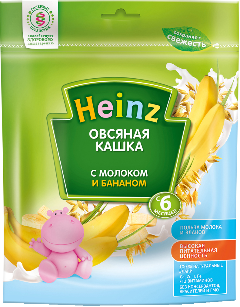Молочные Heinz Heinz Молочная овсяная с бананом (с 6 месяцев) 250 г heinz каша овсяная с бананом и молоком с 6 месяцев 250 г