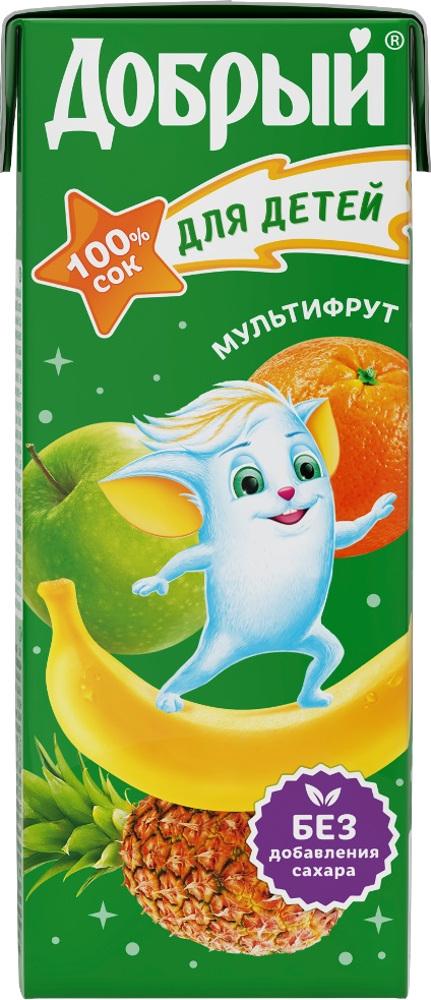 Соки и нектары Добрый Добрый Мультифрукт с 6 мес. 200 мл добрый pulpy апельсин напиток сокосодержащий с мякотью 0 9 л